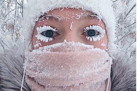 ruska dedina kde je najkrutejsia zima na celej planete